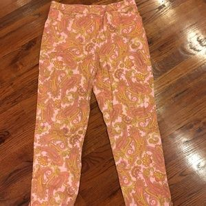 JONES NEW YORK Preppy Paisley ANKLE PANTS cotton